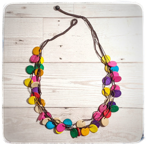 Rainbow Coconut Necklace