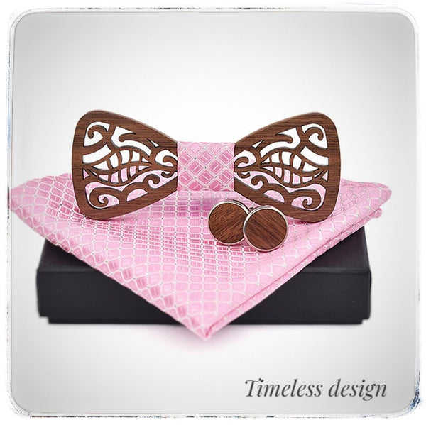 'Cherry leaf' Bow Tie Gift set