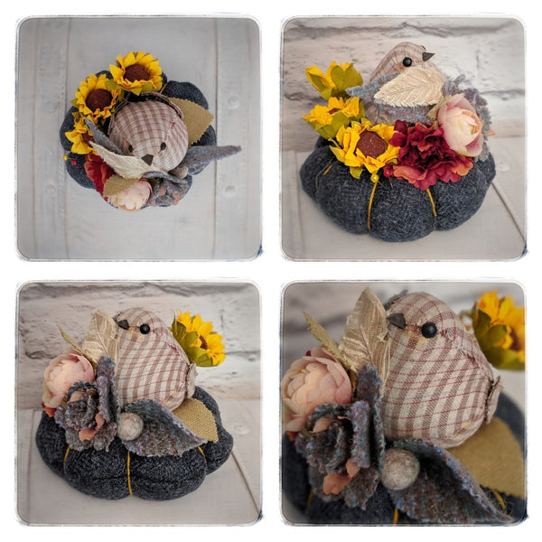 'Birds and Flowers' Pin Cushions