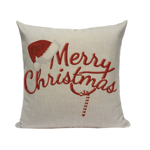 Christmas Greetings Cushion Covers