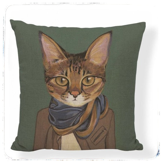 Hipster Cats Cushion Cover