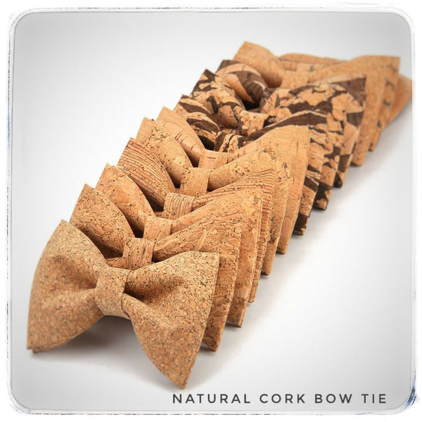 Natural Cork Bow Tie