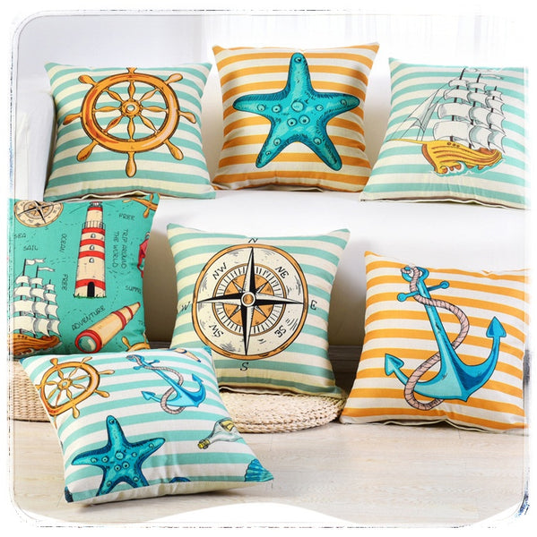 Seaside Cushion Covers