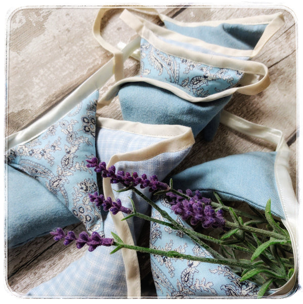 Lavender filled buntings