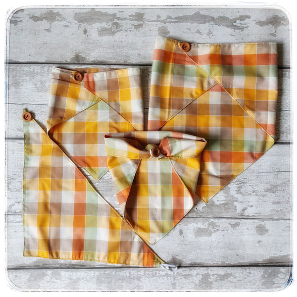 Autumn Vintage Bandana-Classic Tie On