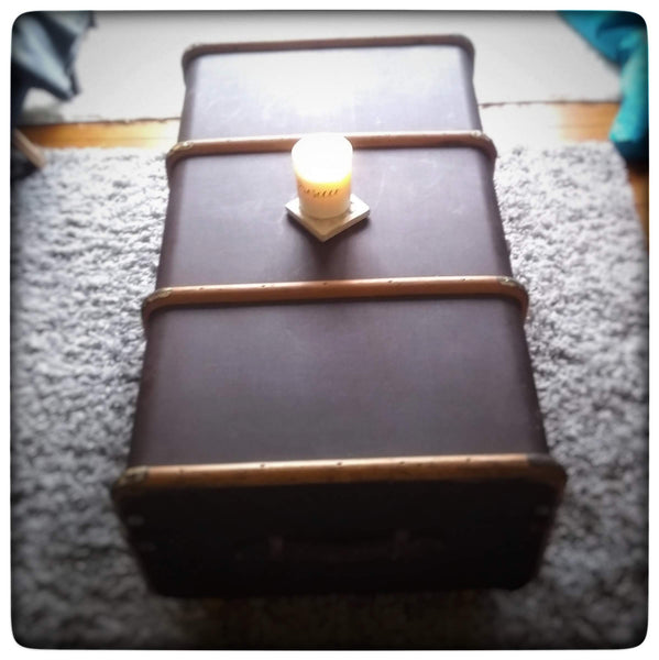 Travel suitcase coffee table