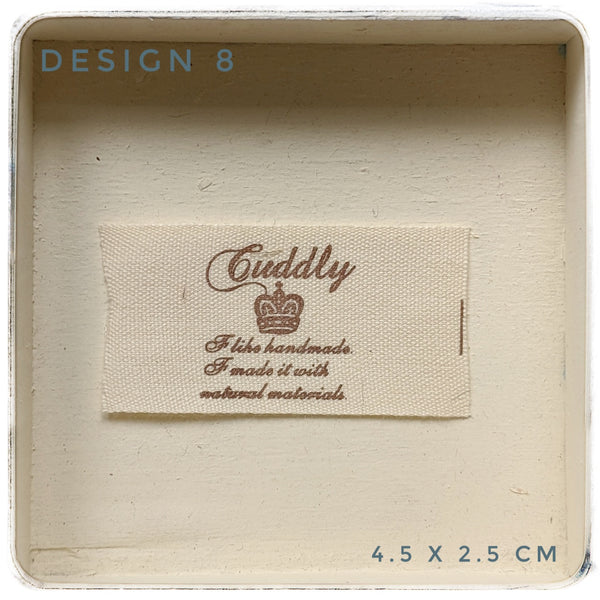Cotton labels for handmade items-pack of 5