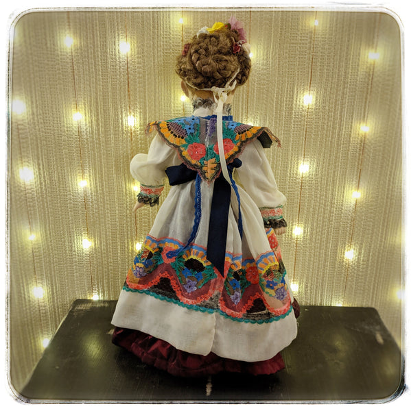 Ana Sofia- Dia de los Muertos porcelain upcycled Leonardo Collectible doll