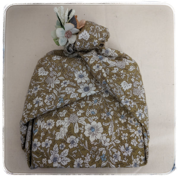Furoshiki gift wrapping with a Shabby Chic twist
