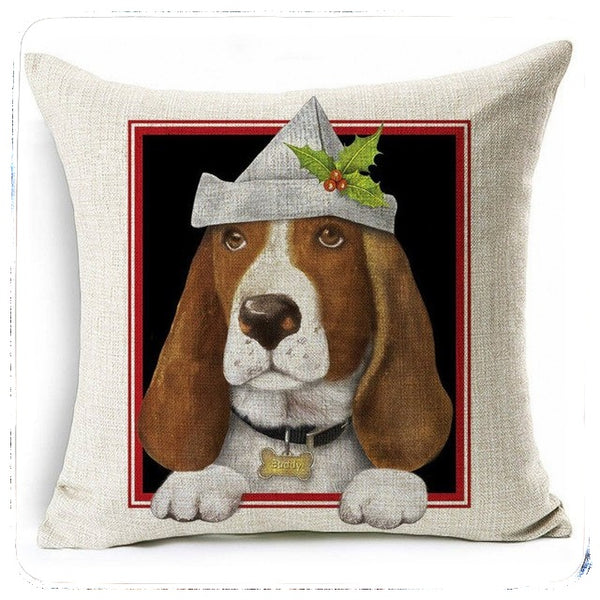 Pet's Christmas Cushion Covers