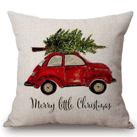 Vintage Cars Christmas Cushion Covers