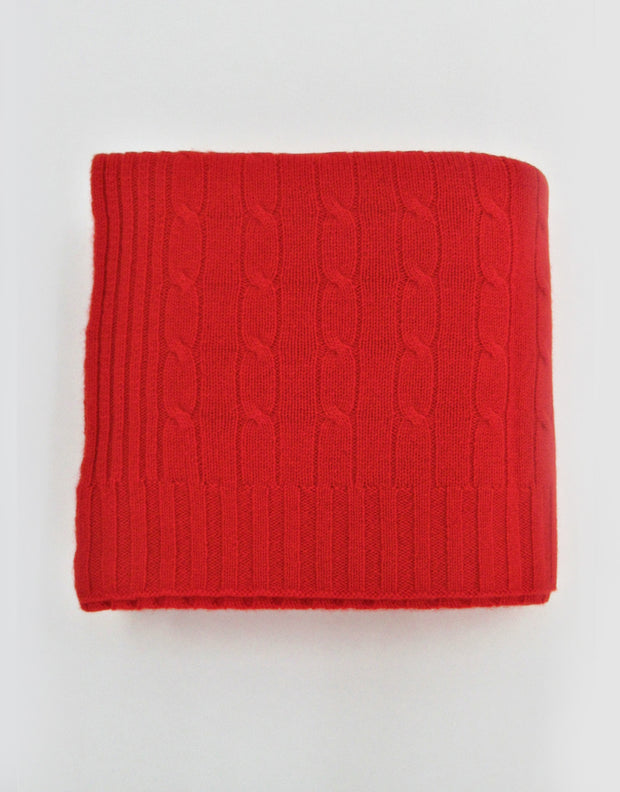 Cashmere Travel Blanket in Burnt Orange