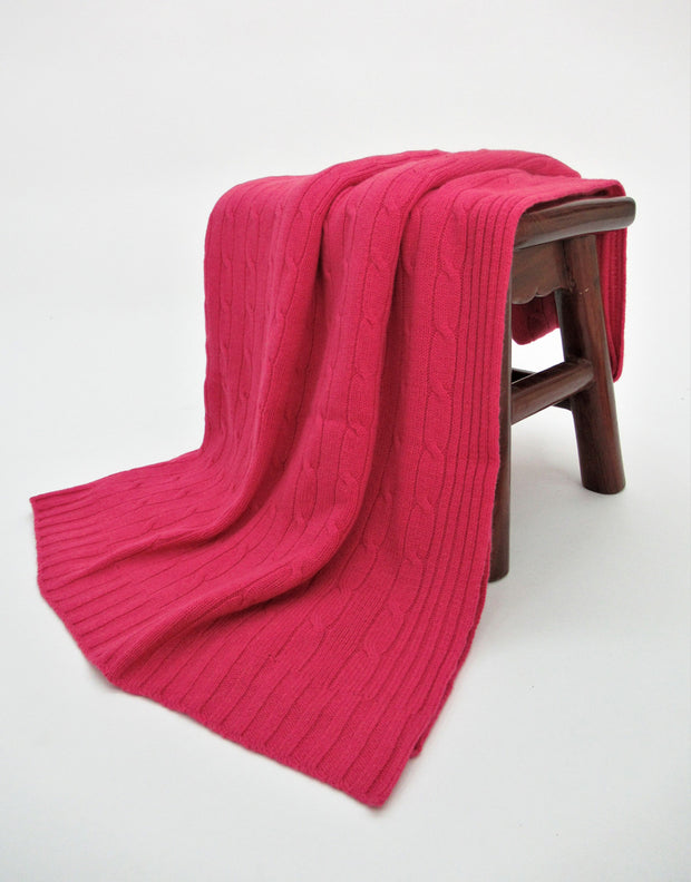 Cashmere Travel Blanket in Lollipop