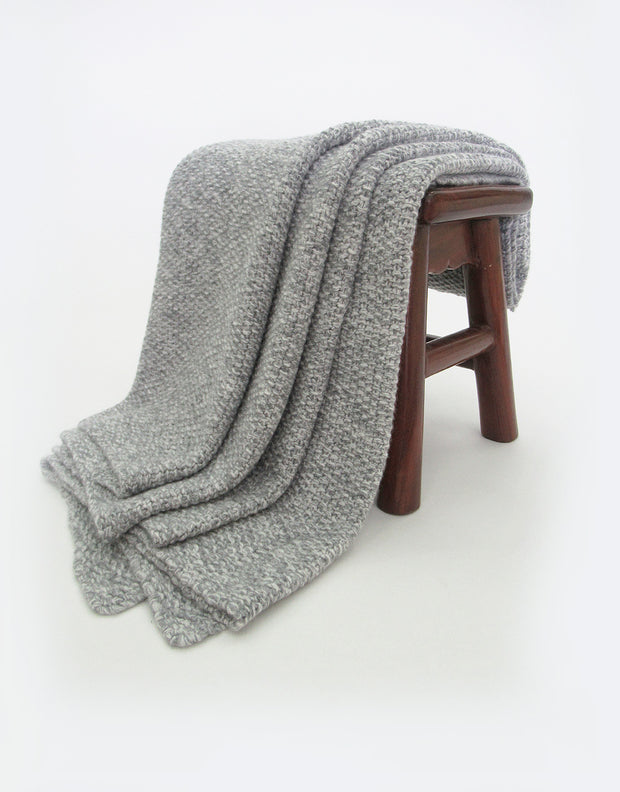Melange Cashmere Blanket in Derby