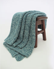Melange Cashmere Blanket in Atlantic