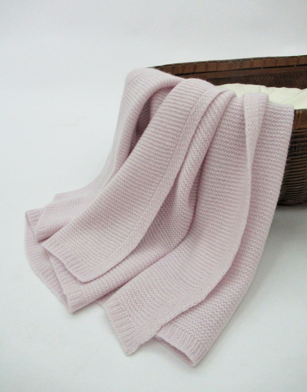 Fluffy Baby Blanket in Lilac