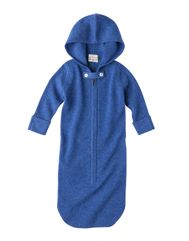 Cashmere Baby Sack with Hood in Nautica