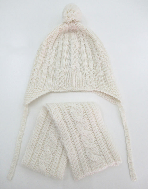 Baby Cashmere Beanie and Scarf Set