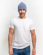 The Short Tube Cashmere Beanie in Aspen