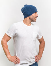 The Short Tube Cashmere Beanie in Cascade