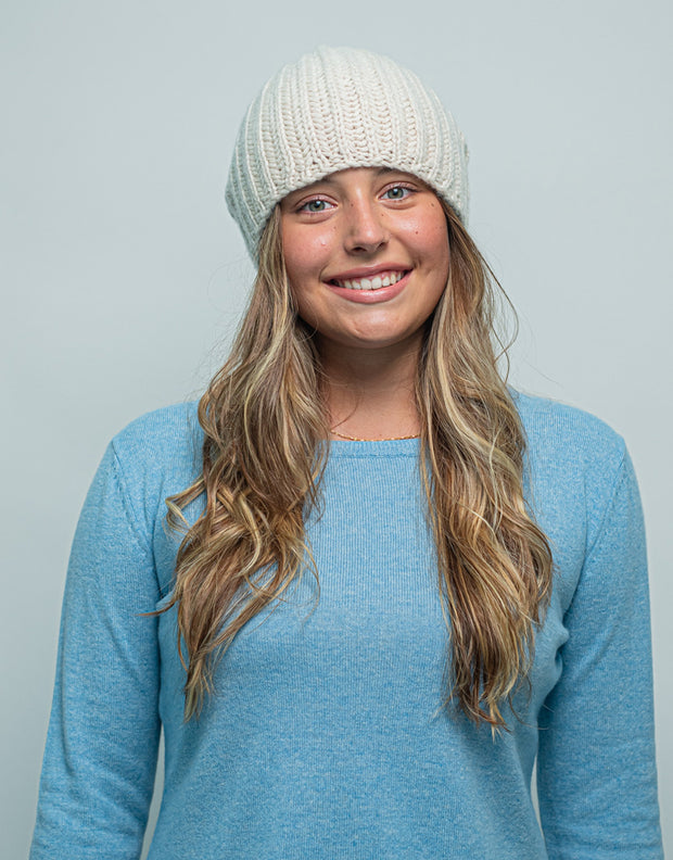 Cashmere Winter Warmer Beanie in Dune