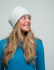 The Powder Beanie in Ice Mist