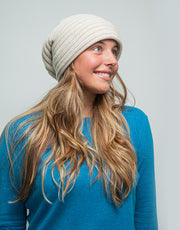 The Powder Beanie in Sand