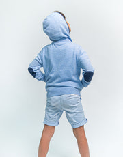 The Kids Hoodie in Beach Blue
