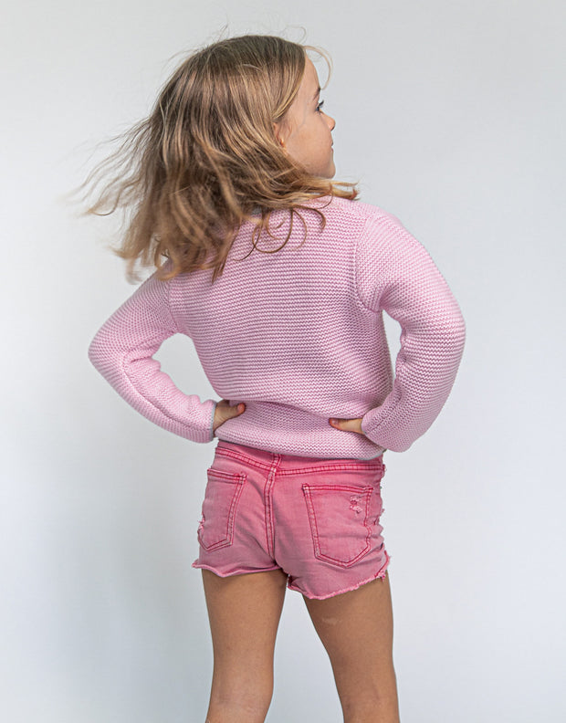 Cashmere Mountain Cardigan in Rose