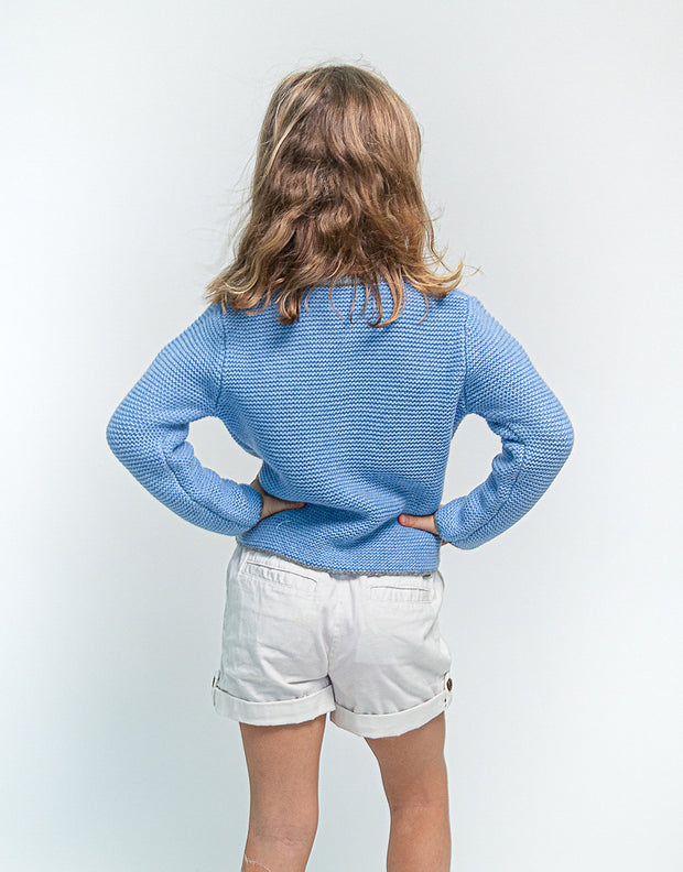 Cashmere Mountain Cardigan in Sky