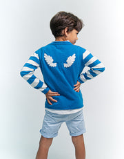Angel Baby Wing Pullover in Peacock