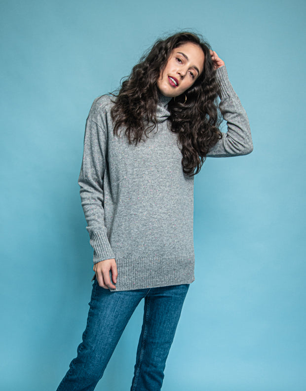 Relaxed Turtleneck Sweater in Festival