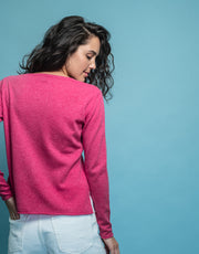 Crew Neck Sweater in Peony