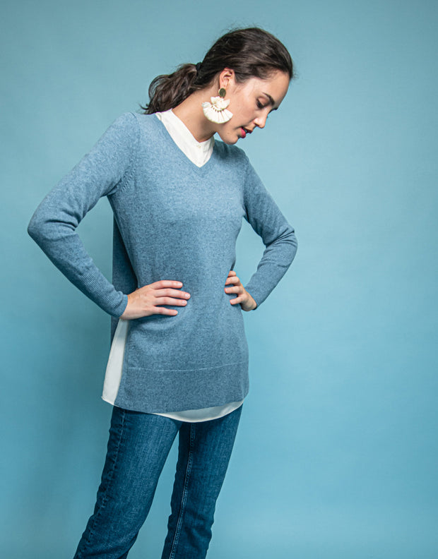 High Slit Pullover in Dusk