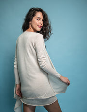 Ultrafine Cashmere Cruise Cardigan in Wheat