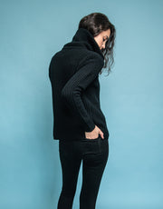Bomber Cashmere Jacket in Black