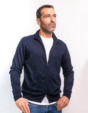 Zip Jacket in Navy