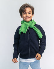 Kids Soft Knitted Cashmere Scarf in Grass