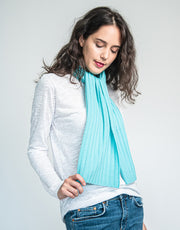 Rainbow Scarf in Aqua