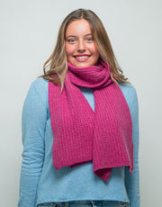 Bomber Scarf in Berry