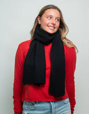 Bomber Scarf in Black
