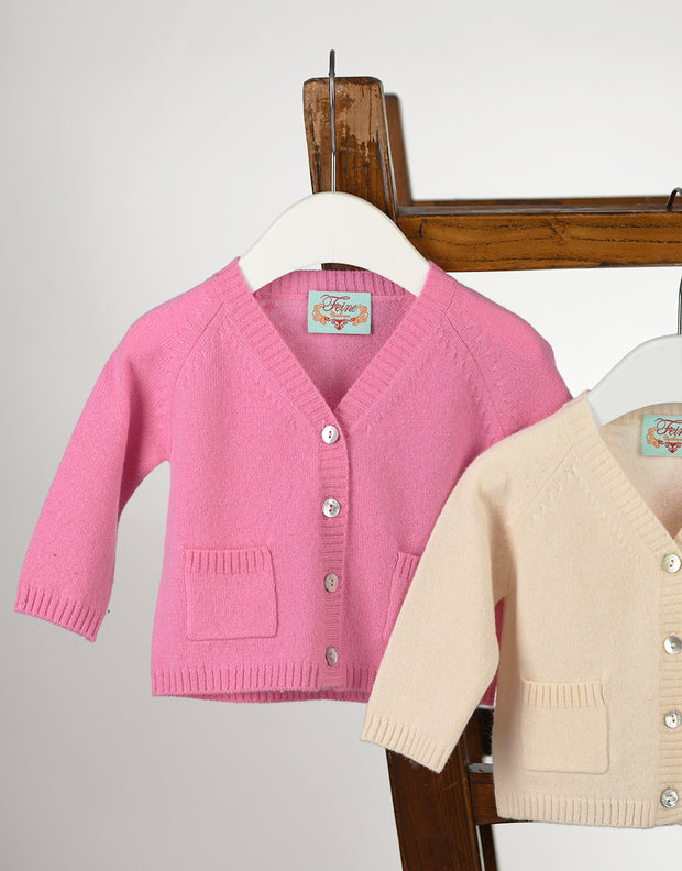 Baby Pocket Cashmere Cardigan