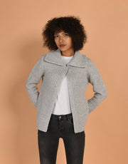 Bomber Cashmere Jacket in Platinum