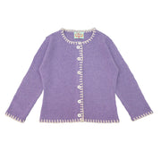 Coco Girls Cashmere Cardigan in Thistle
