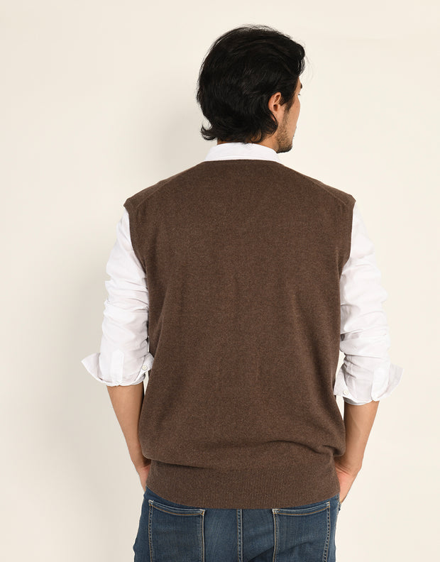 The Everyday Cashmere V-Neck Vest