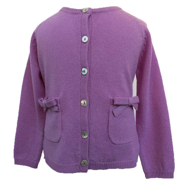 Girls Bow Cardigan