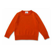 The Tommy - Boys Cashmere Crew Neck Pullover in Ferrari
