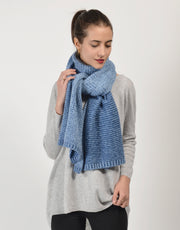 Loop Knit Scarf in Beach Blue