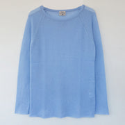 Silk Cashmere Sweater in Light Blue