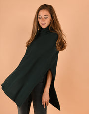 Mary Poncho in Bottle Green